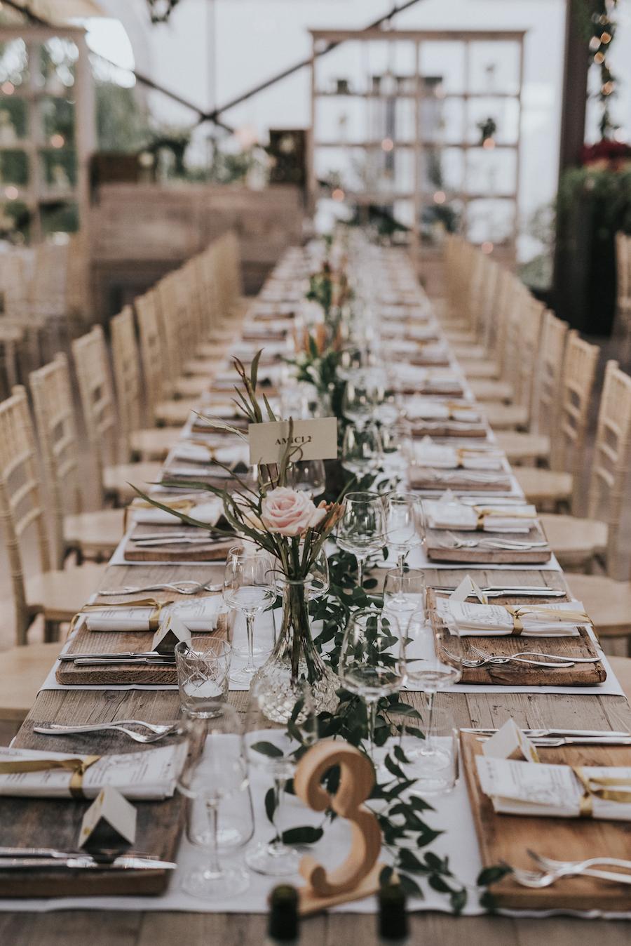 tavola imperiale matrimonio rustico e invernale