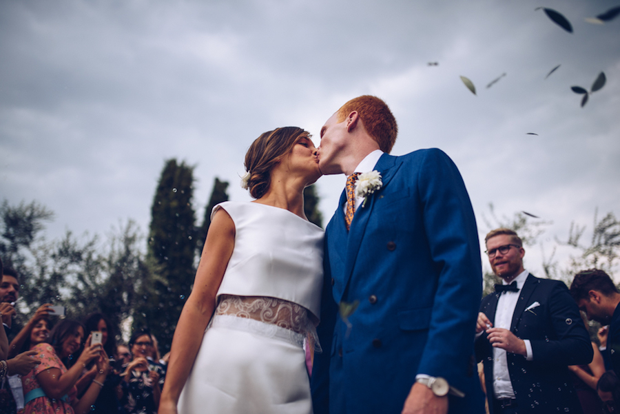 abito da sposa a due pezzi atelier emé
