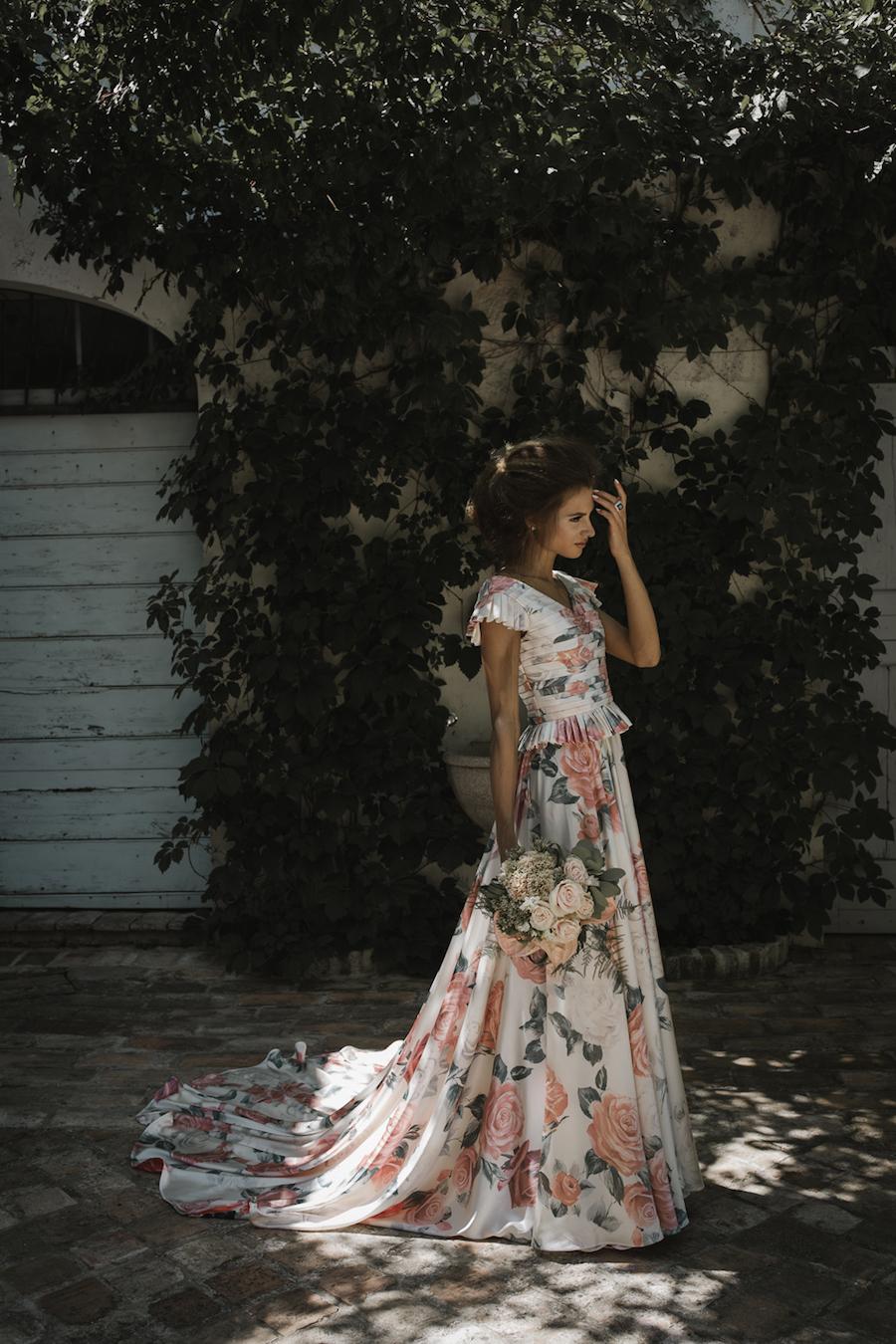 abito da sposa floreale