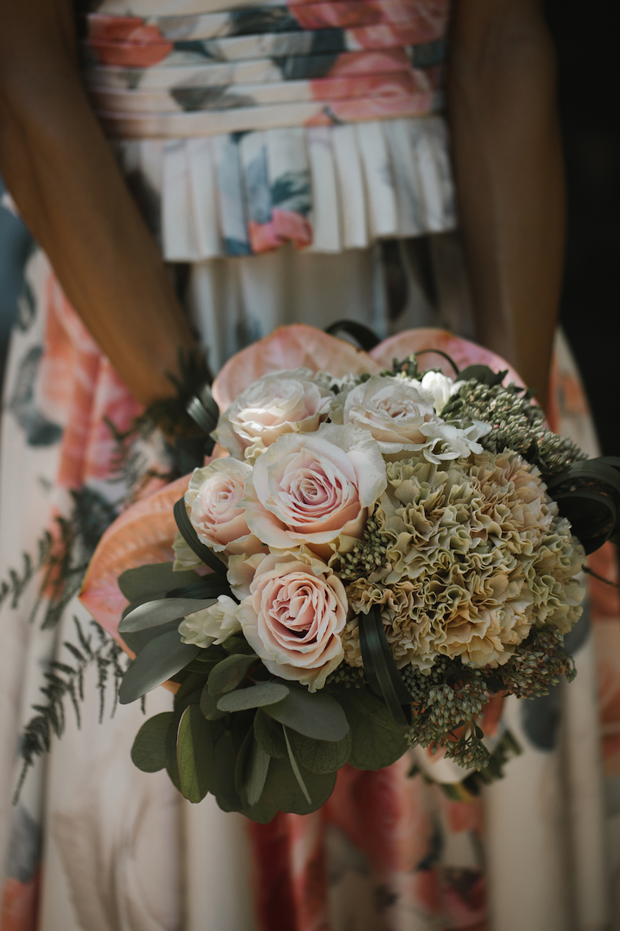 bouquet rosa e verde