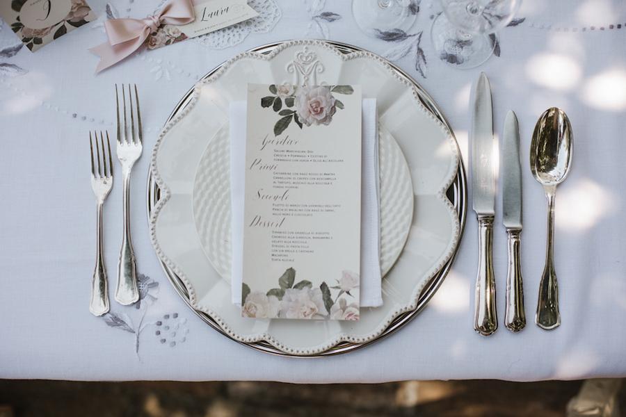 menù matrimonio floreale