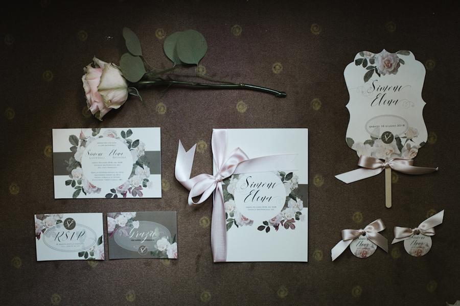 coordinato grafico matrimonio floreale