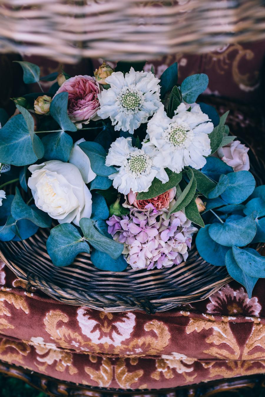 composizione floreale boho chic