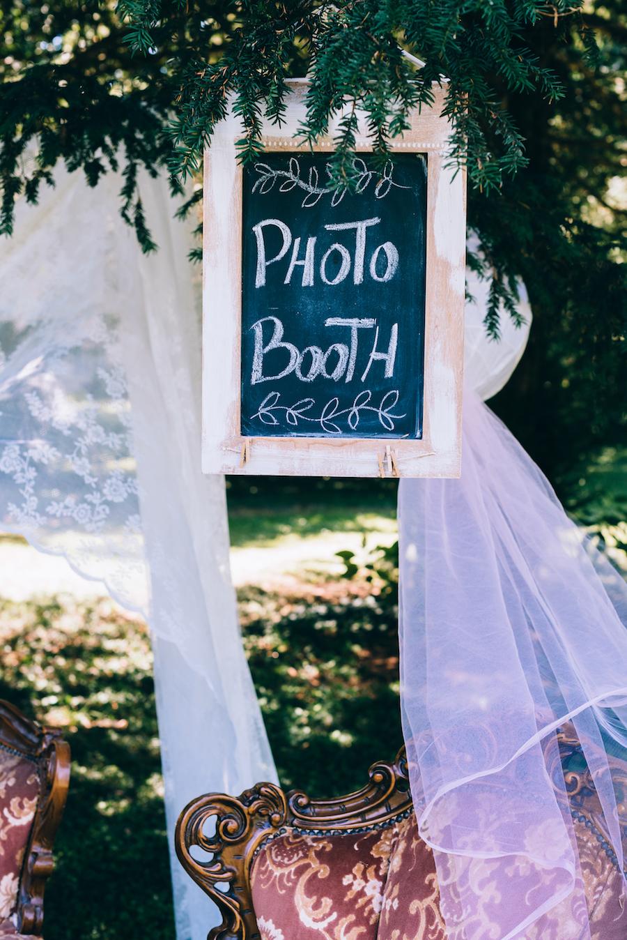 cartello photo booth lavagna