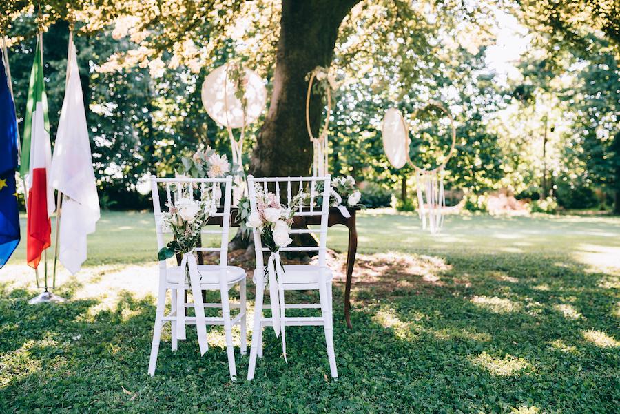 tavolo cerimonia all'aperto