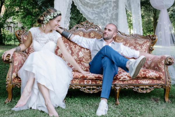 Un matrimonio boho chic a palazzo