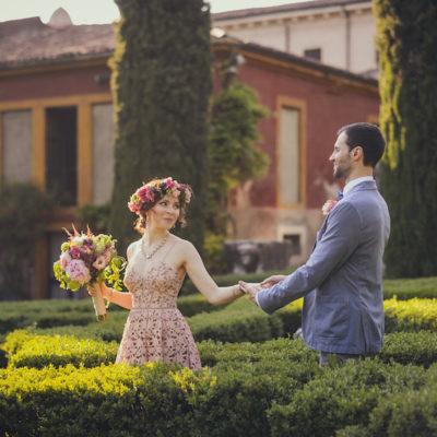 Tutte le sfumature del rosa per un matrimonio a Verona