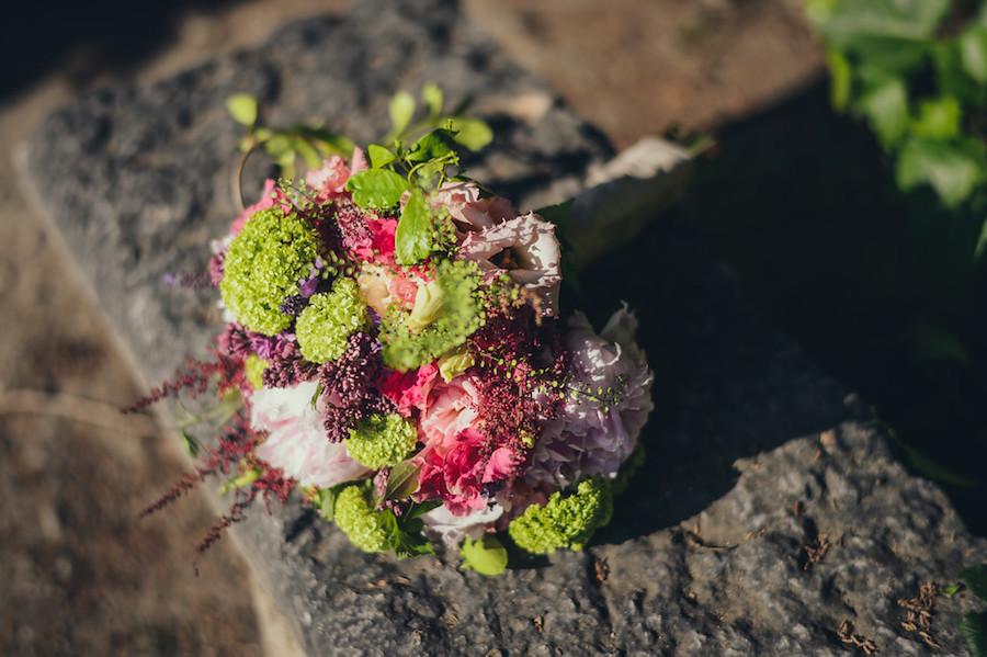 bouquet fucsia e verde