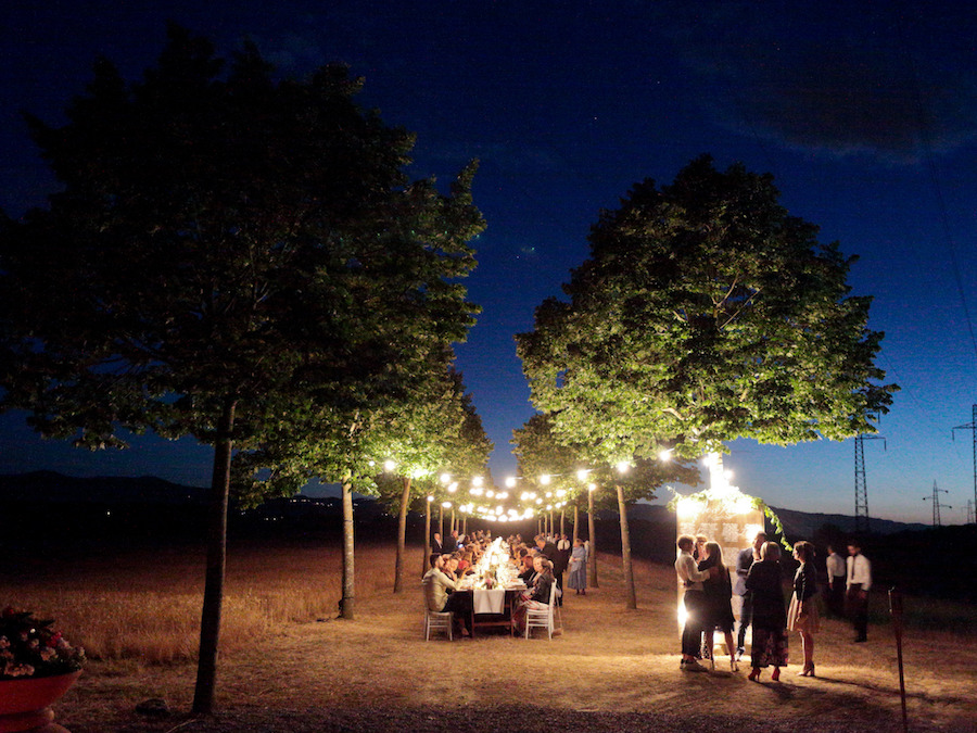 ricevimento matrimonio con luminarie
