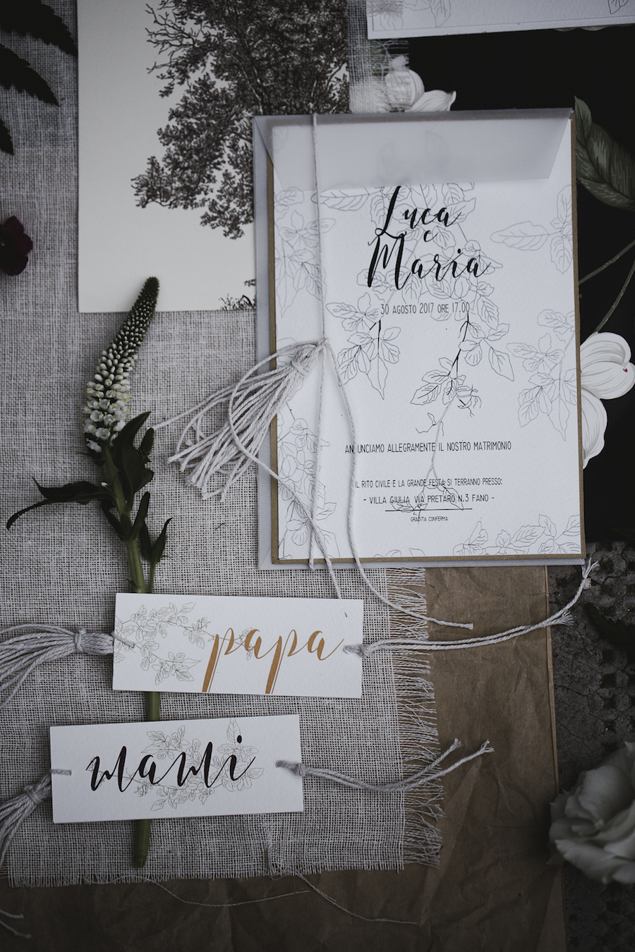 partecipazioni matrimonio bohémien