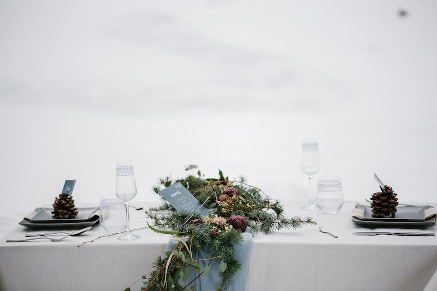 tavola matrimonio invernale