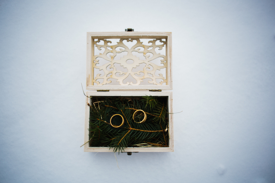scatolina portafedi invernale