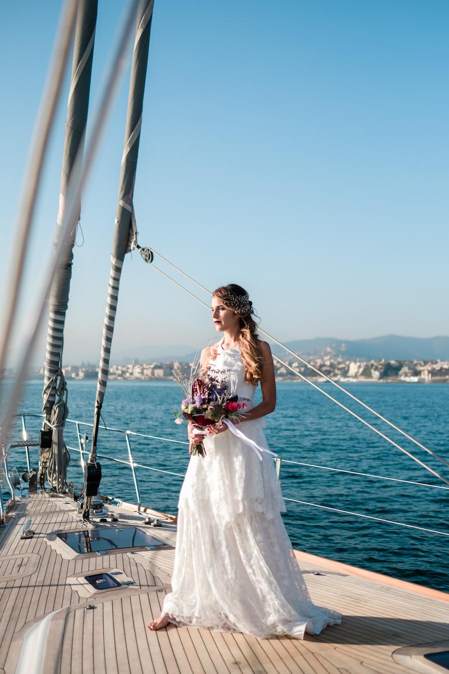 abito da sposa due pezzi marianna lanzilli
