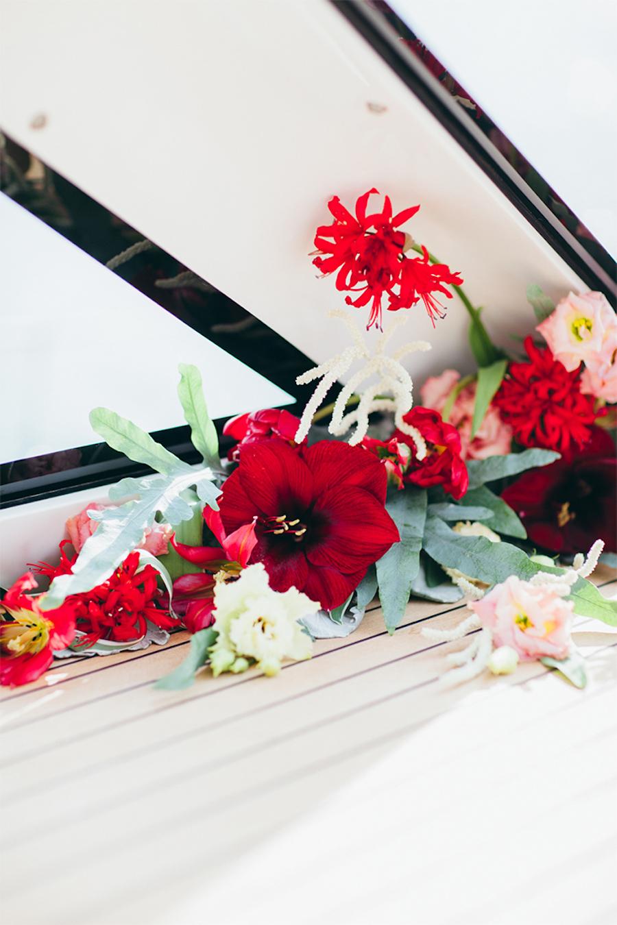fiori rossi tropicali