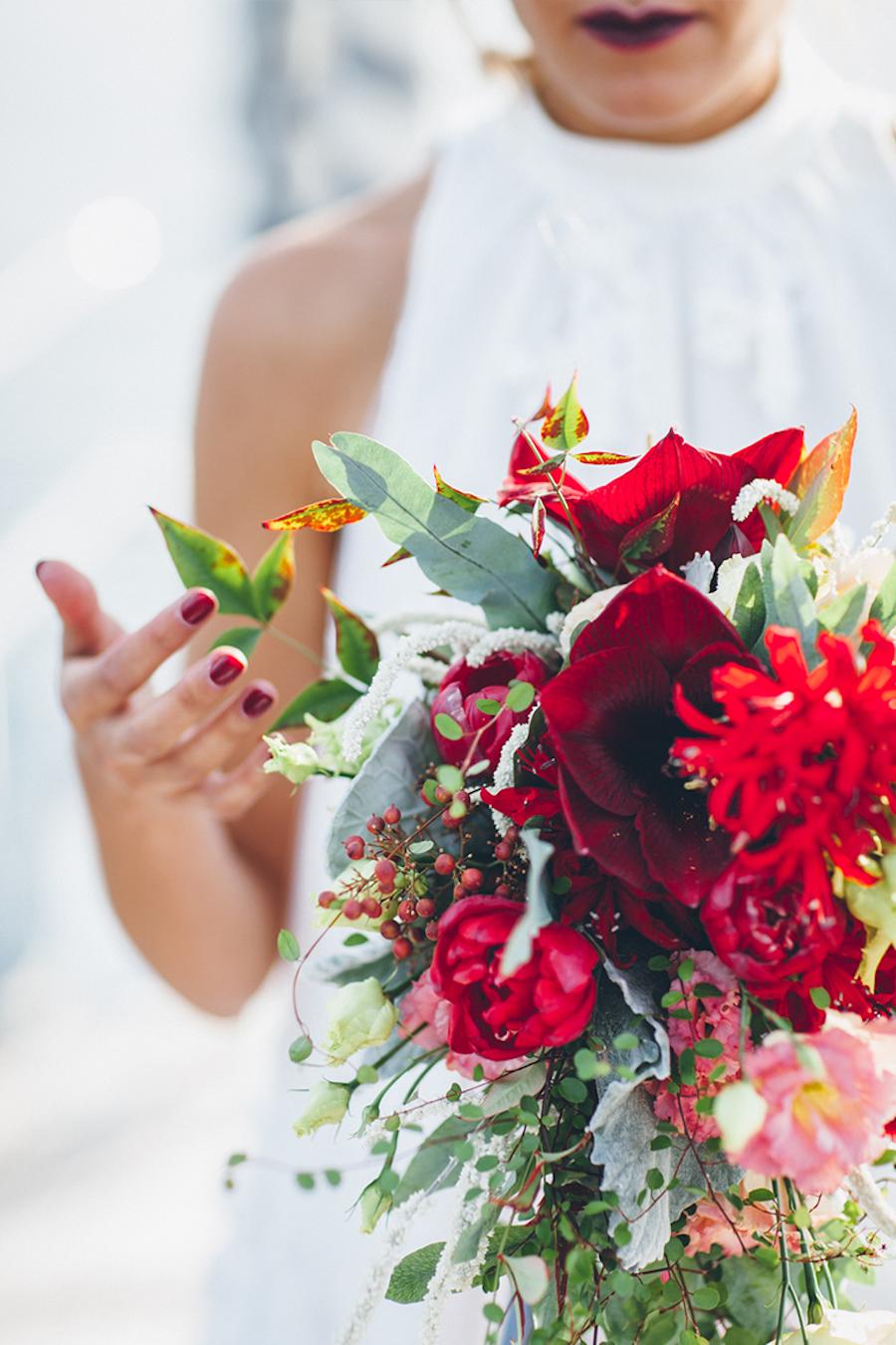 bouquet rosso e verde