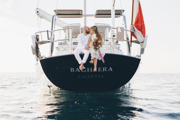 Matrimonio in barca a vela