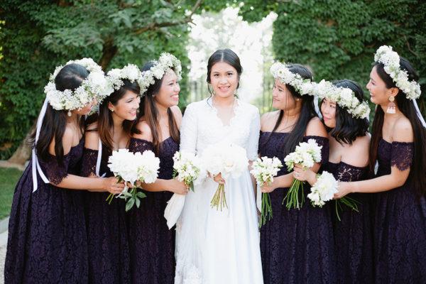 Peonie per un matrimonio blu