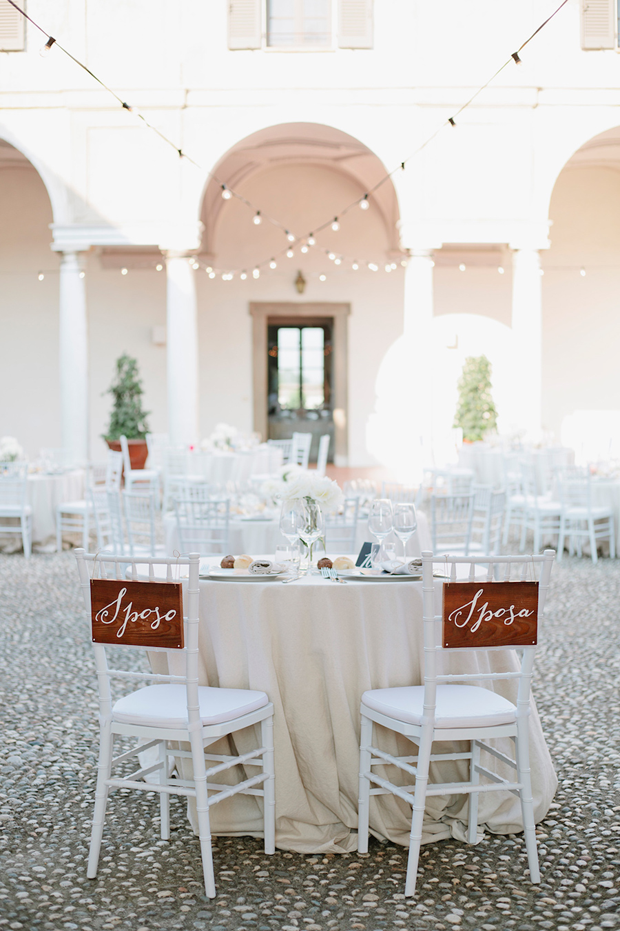 decorazioni sedie sposi in legno