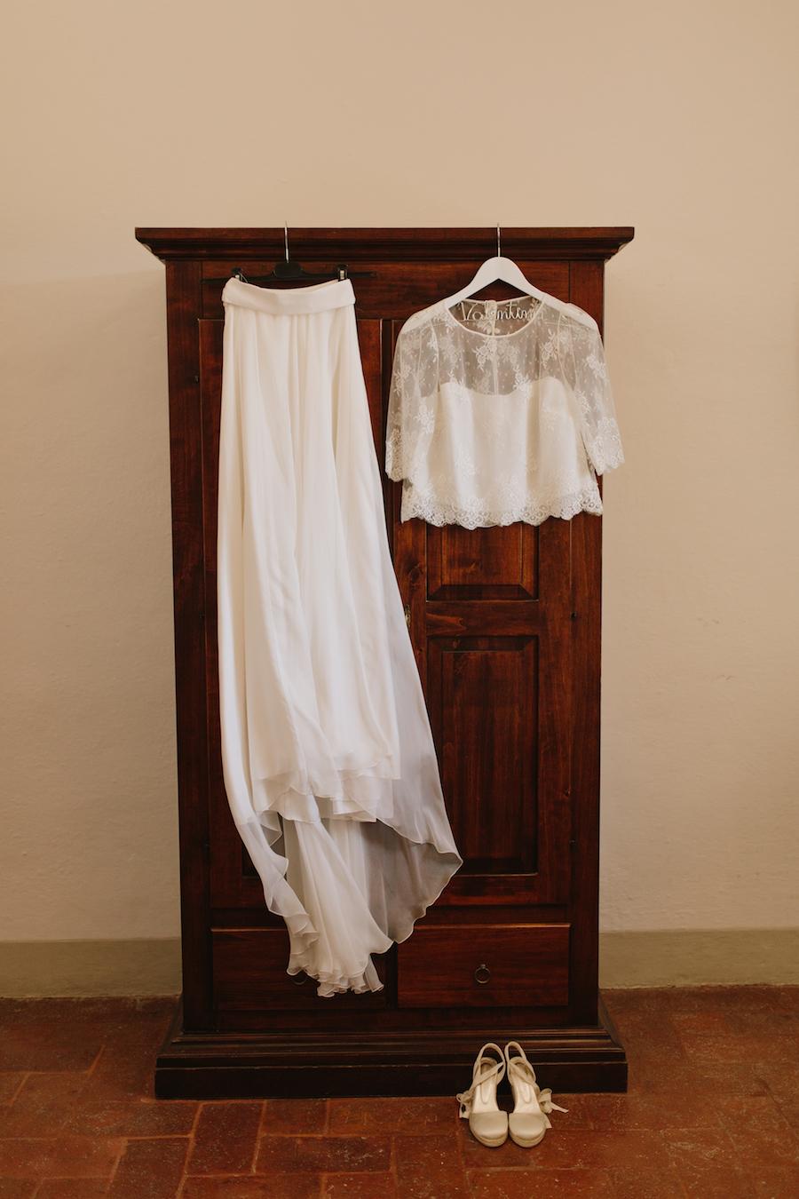 abito da sposa due pezzi