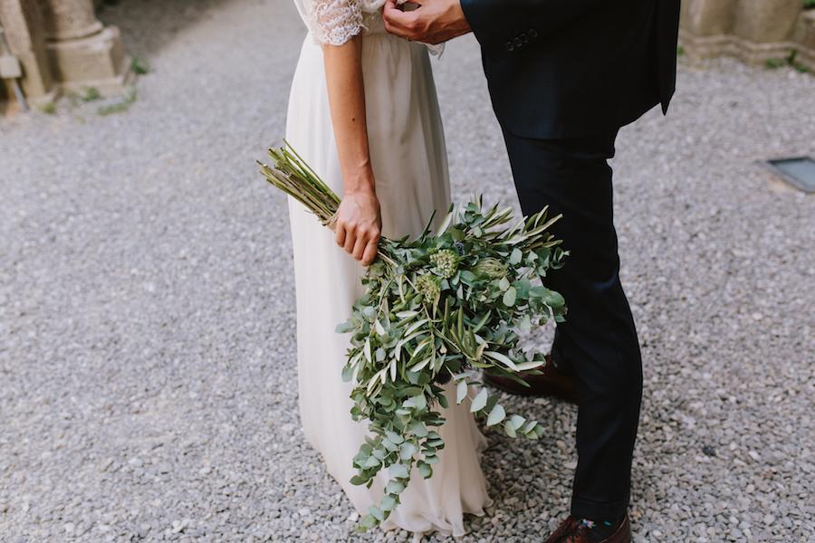 bouquet organico con eryngium