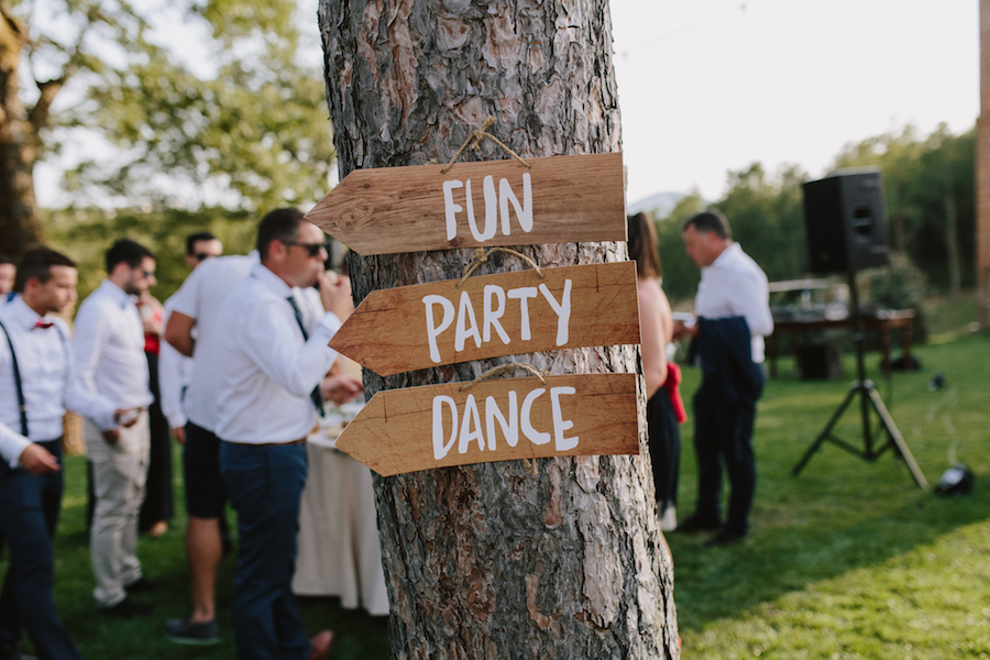 cartelli in legno matrimonio