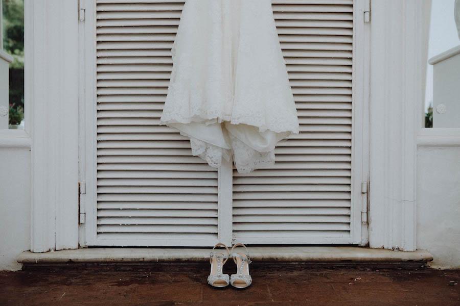 sandali da sposa argento