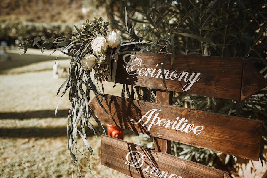 cartelli matrimonio in legno
