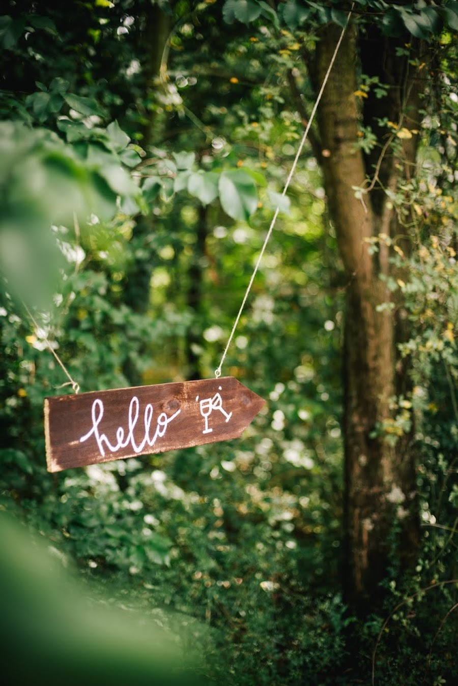 cartello matrimonio scritto a mano