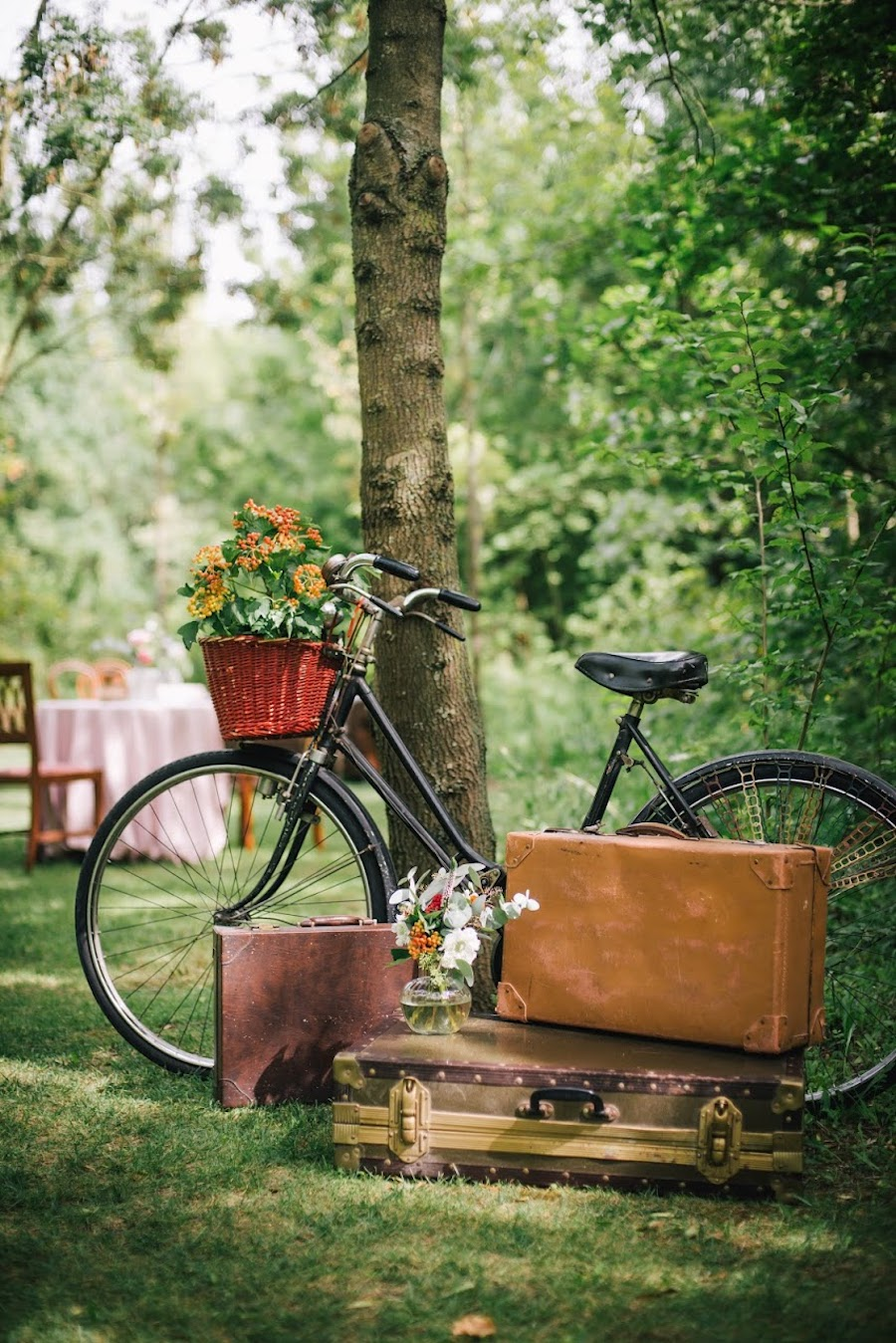 allestimento matrimonio con bicicletta vintage