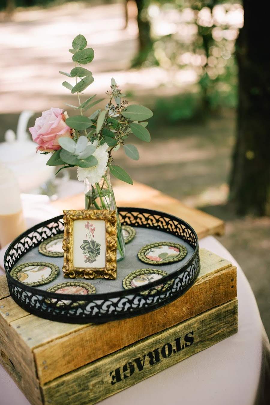 allestimento matrimonio vintage