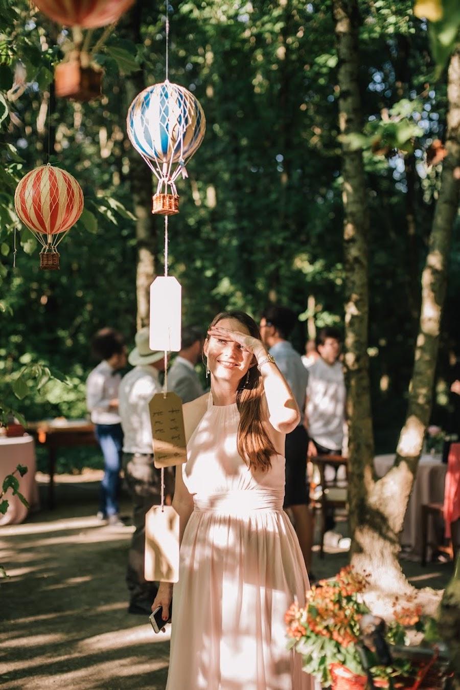 tableau de mariage con mongolfiere