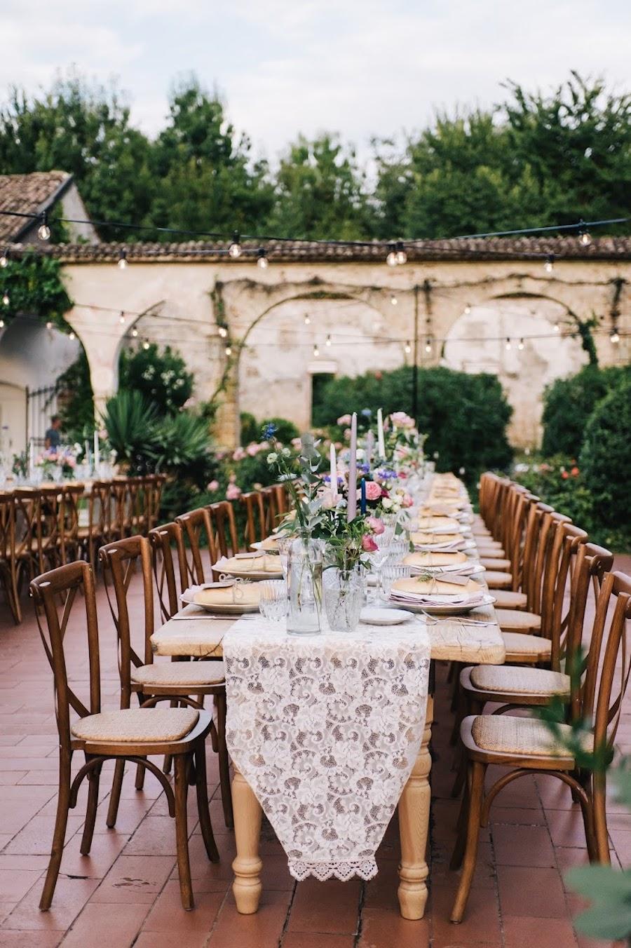 tavolo imperiale matrimonio vintage