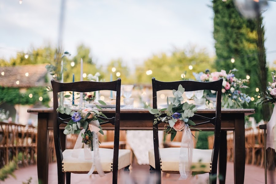 decorazioni floreali per le sedie