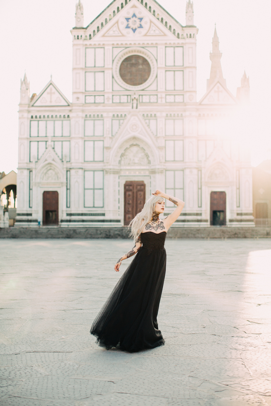 b9ca82ffb86f6 Ispirazione gotica con un abito da sposa nero