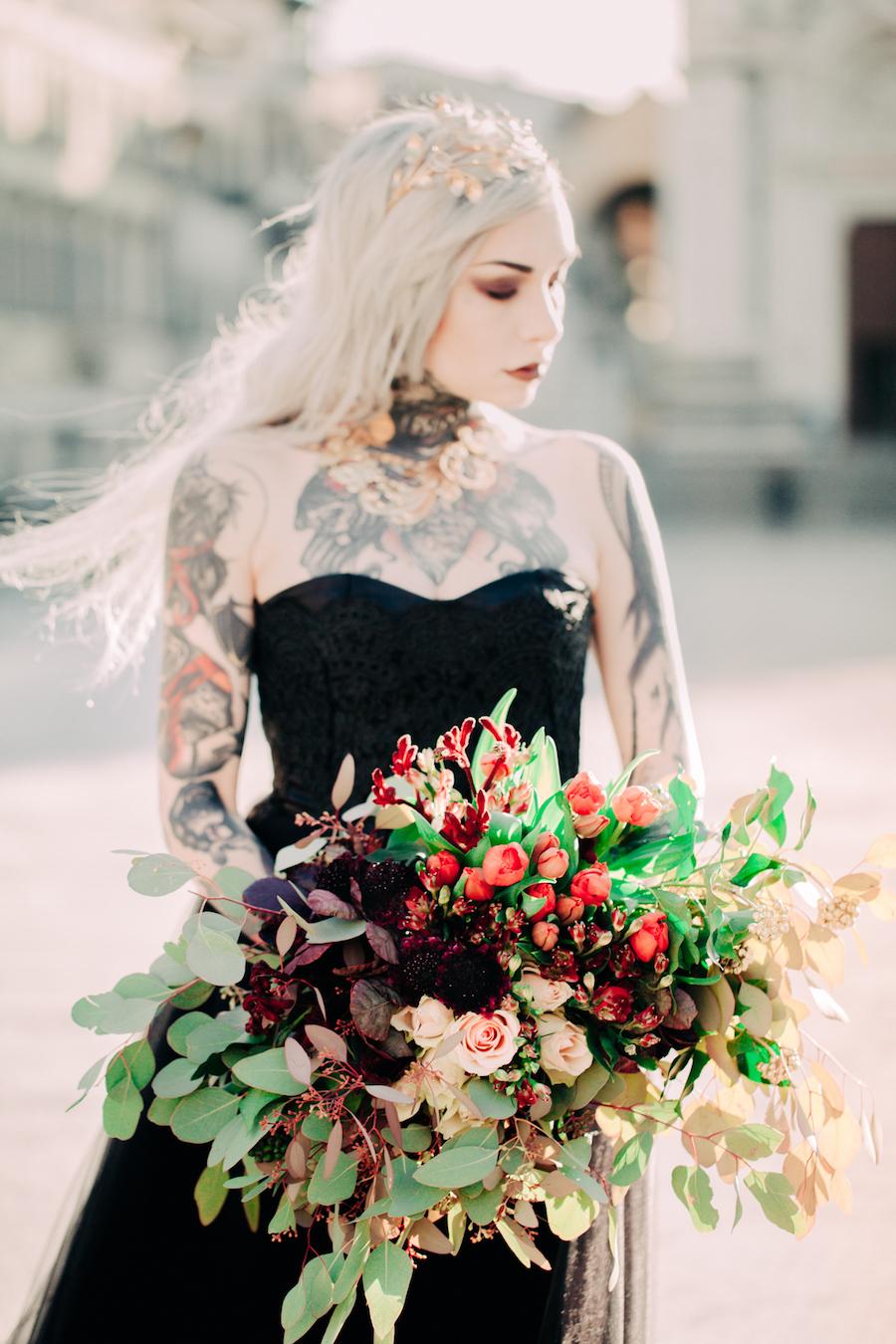 bouquet rosso e bordeaux