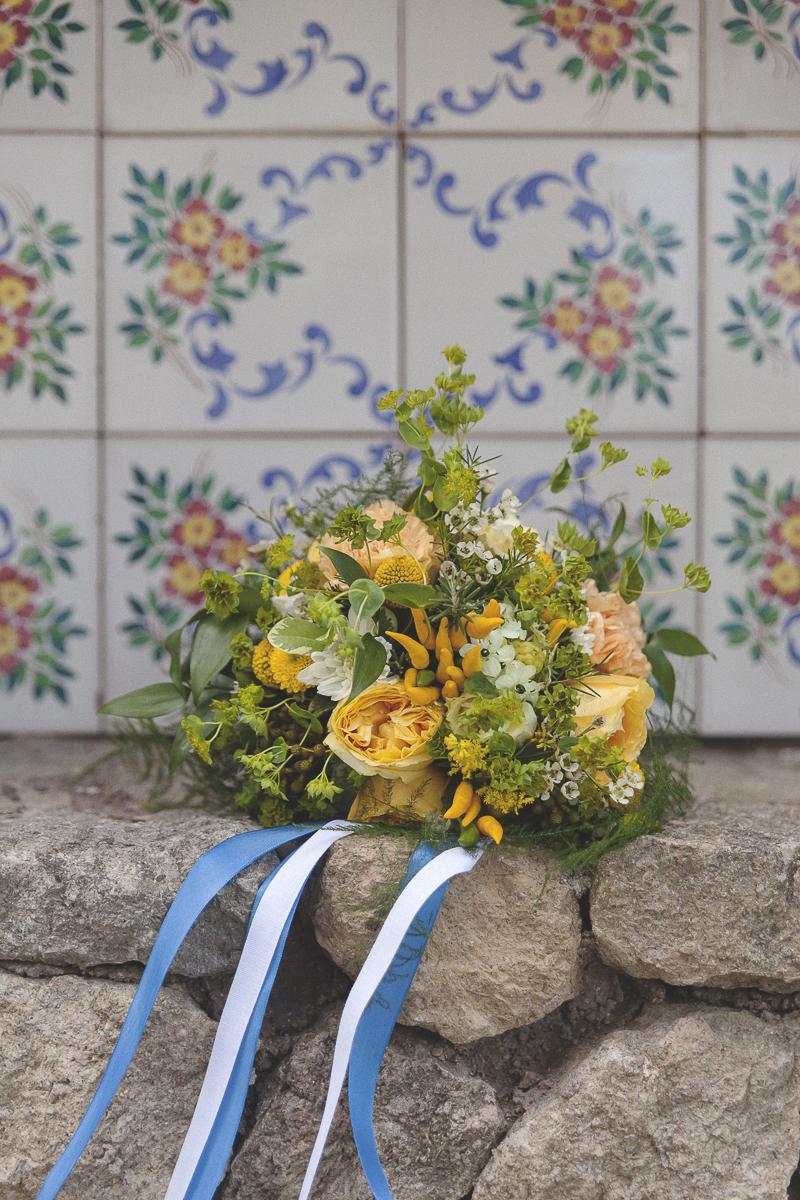 bouquet giallo e verde