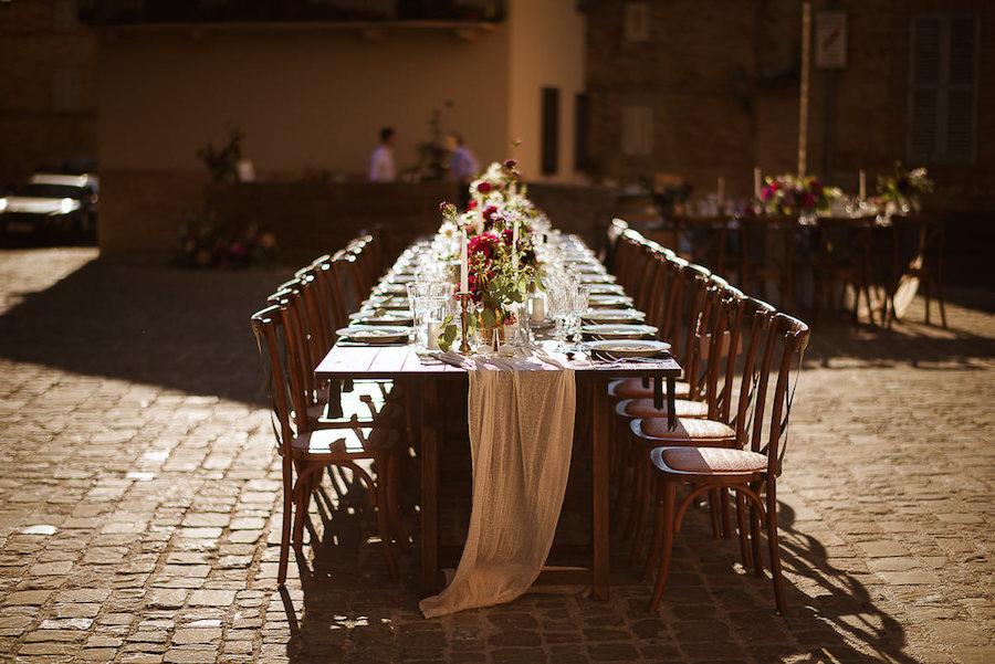 tavola imperiale matrimonio