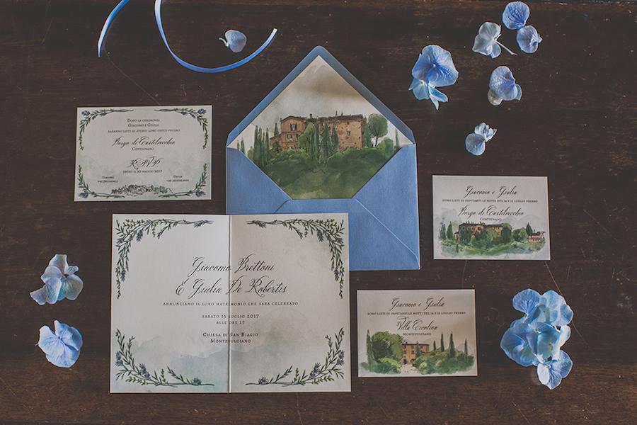 Partecipazioni Matrimonio Azzurro : Un matrimonio azzurro pervinca in val d orcia wedding wonderland