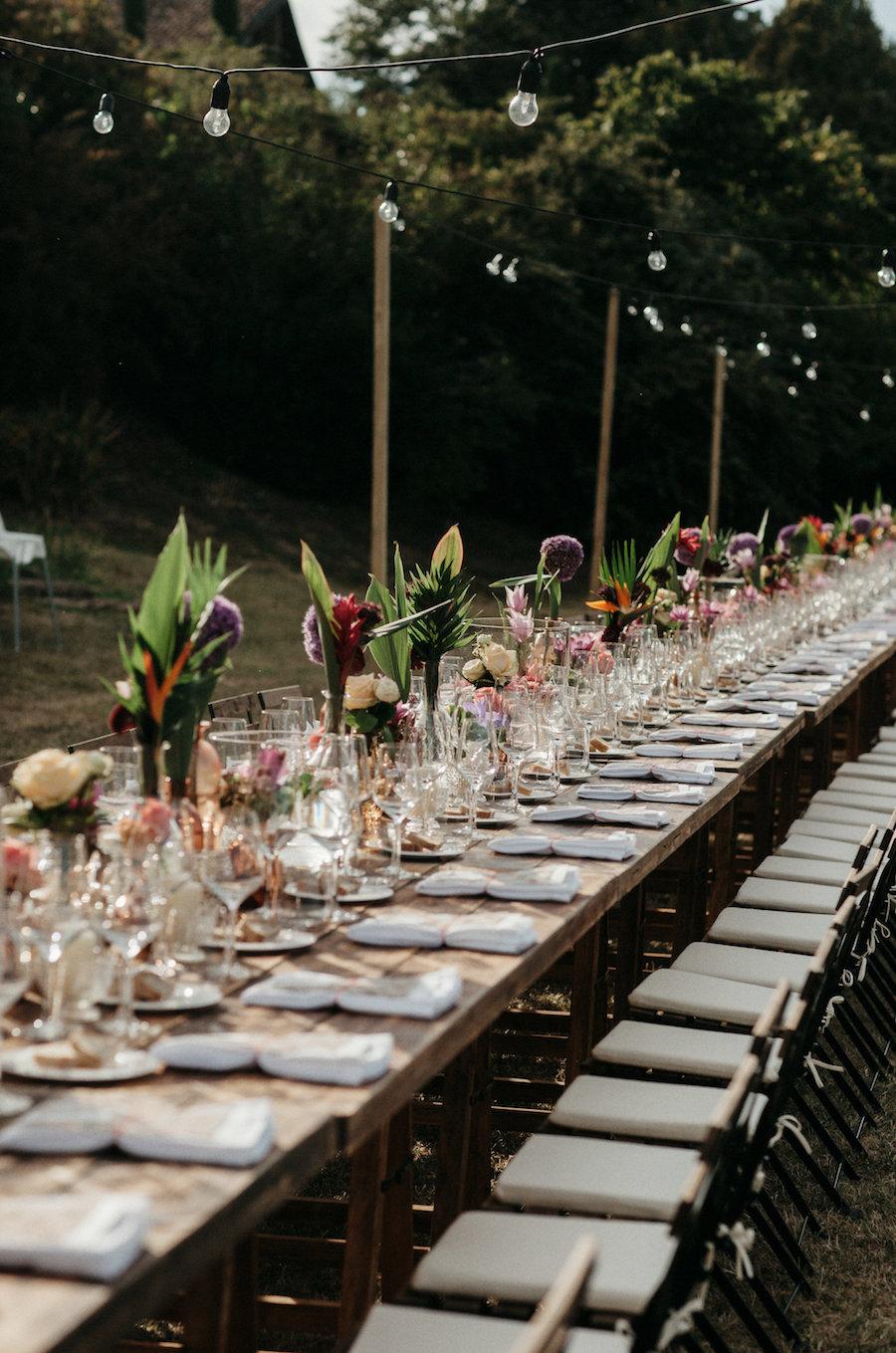 tavola matrimonio bohemien tropicale