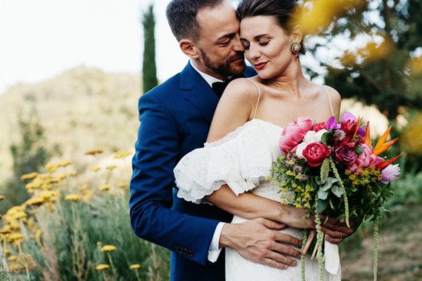 Un matrimonio ispirato al caleidoscopio