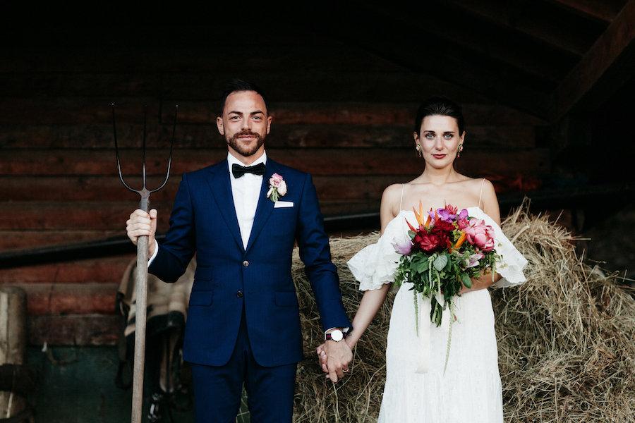 matrimonio bohemien tropicale