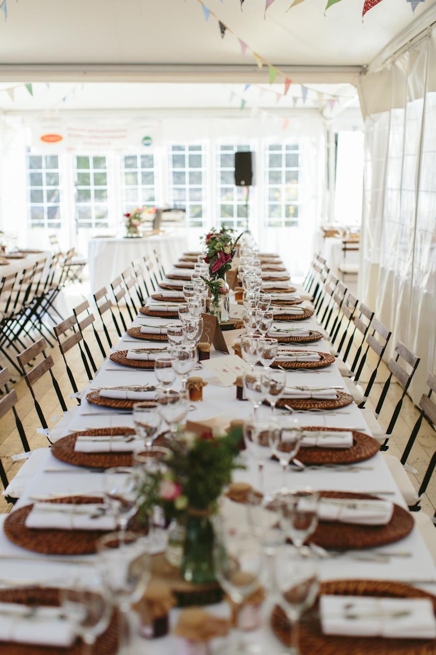 tavola imperiale matrimonio rustico