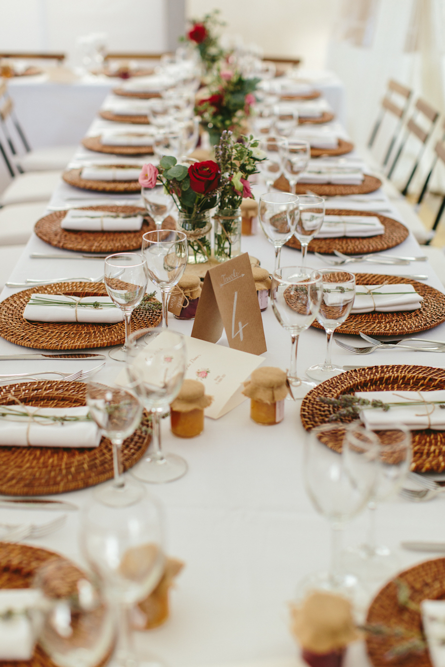 tavola matrimonio bohemien