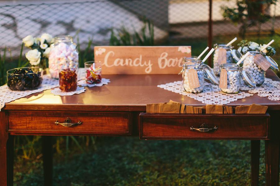 confettata con tavolo vintage