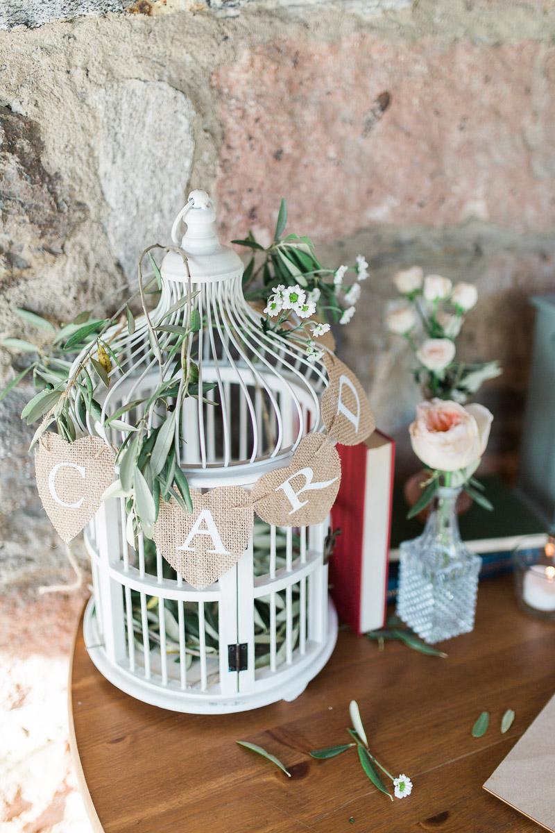 gabbietta uccellini porta buste matrimonio