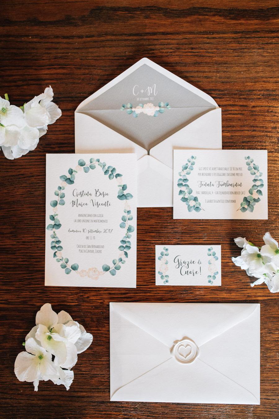 partecipazioni matrimonio botanico