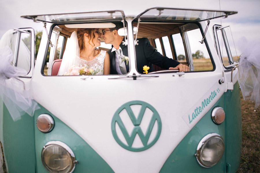 matrimonio in furgoncino volkswagen