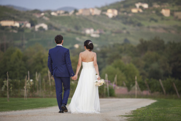 Un matrimonio bucolico e raffinato