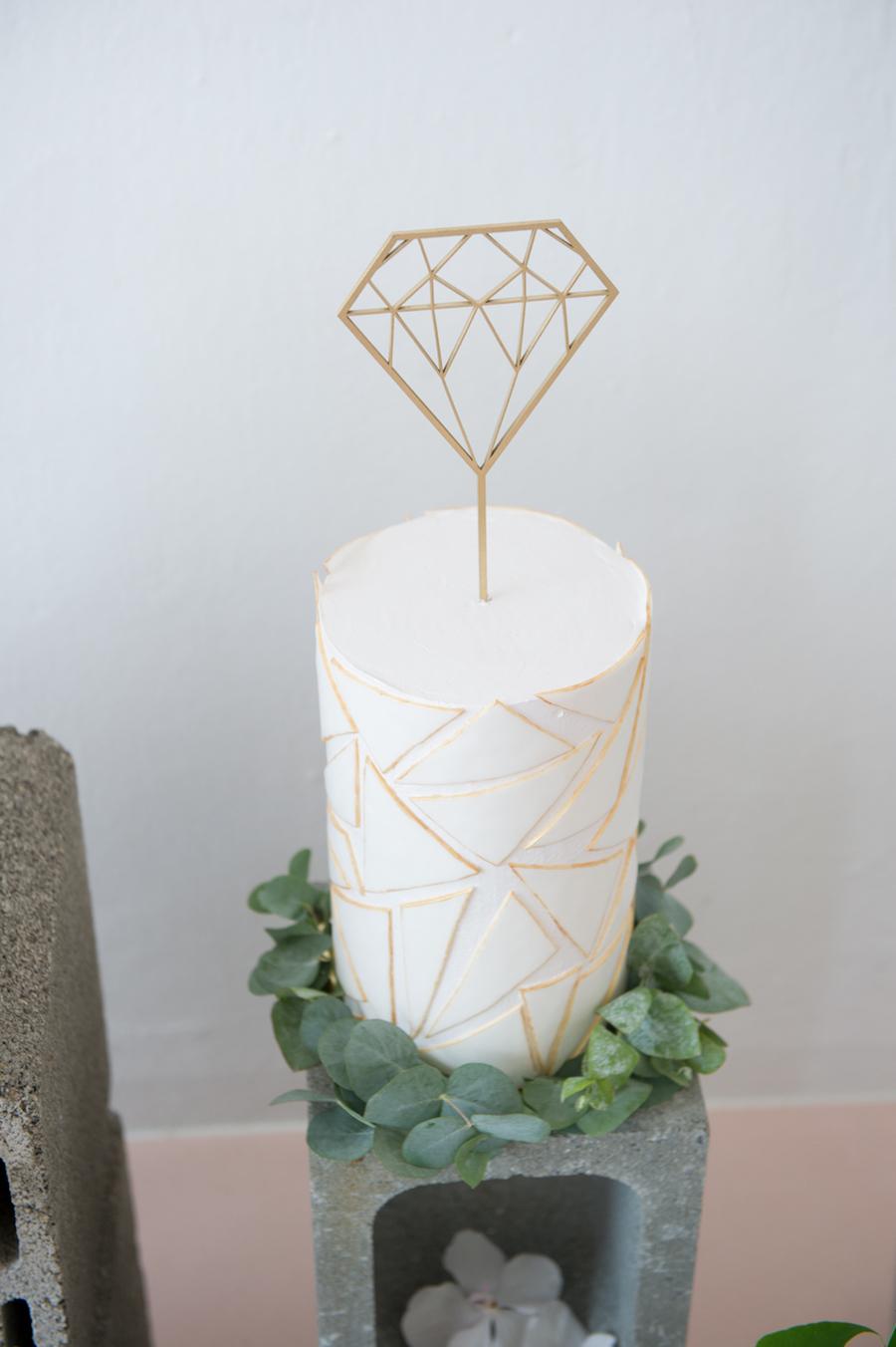 cake topper geometrico