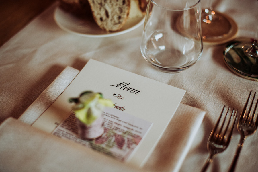 menù matrimonio
